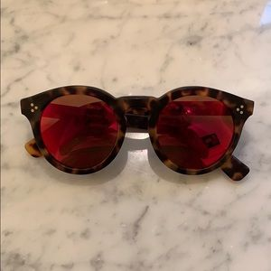 Illesteva Leonard 2 Red Sunglasses